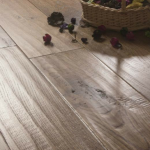 ATKINSON & KIRBY: 700421 Oak (Wheat) Stained, Handscraped & Lacquered (18 x 150mm)