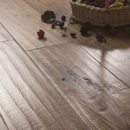 ATKINSON & KIRBY: 700421 Oak (Wheat) Stained, Handscraped & Lacquered (18 x 150mm)-0