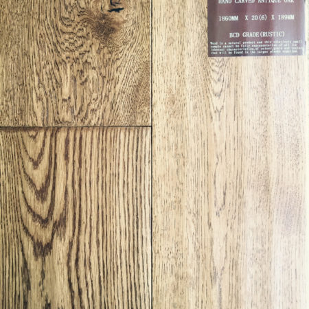 NATURES OWN: Antique Oak Hand Carved & UV Lacquered (20/6 x 189mm)-0