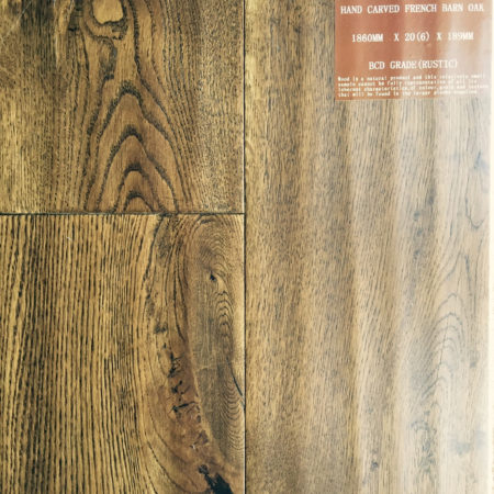 NATURES OWN: French Barn Oak Hand Carved & UV Lacquered (20/6 x 190mm)-0