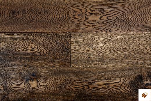 TUSCAN VINTAGE: TF202 - Oak, Dark Smoked Enhanced Hand Scraped & Brushed (15/4 x 190mm)-0