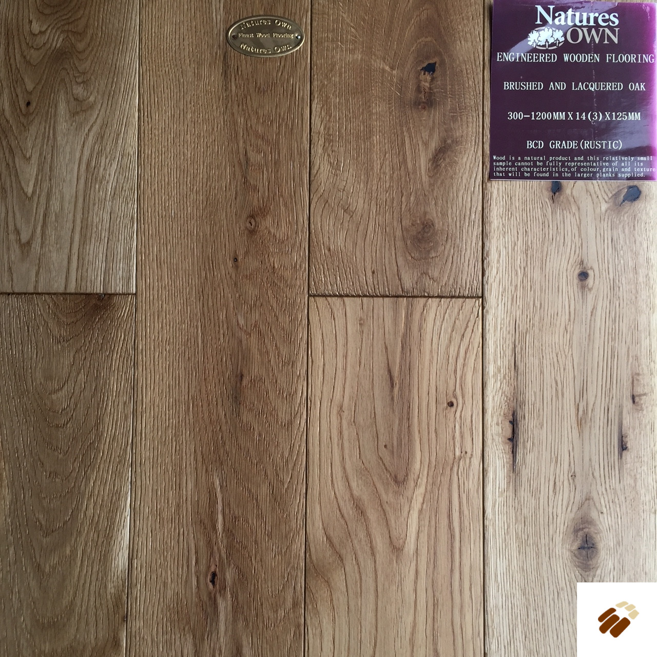 NATURES OWN: Oak Brushed & Lacquered (14/3 x 125mm)-0